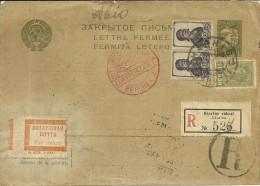 RUSIA - HISTORIA POSTAL -  CARTA CERTIFICADA -  UKRANIA - 1933 - MARCA LUFTPOSTAMT BERLIN - 1923-1991 USSR