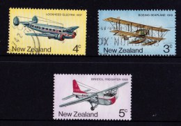 New Zealand 1974 Airmail Transport - Planes 3 Values Used - - New Zealand