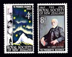 New Zealand 1967 Royal Society Centenary Set Of 2 Mint - New Zealand