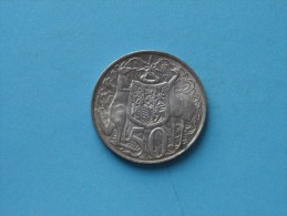 1966 - 50 Pence / KM 67 ( Uncleaned - For Grade, Please See Photo ) ! - Monnaie Décimale (1966-...)
