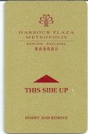HOTEL HARBOUR PLAZA METROPOLIS HONG KONG Llave Clef Key Keycard Karte - Hotel Labels