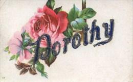 NOVELTY -  FLOWER + DOROTHY IN ADDED GLITTER  Nov124 - Firstnames