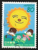 "JAPAN 1996 - Mi. 2378 O, ""Close Friendship With The Sun"" Drawing By Takashi Yanase | Children | Children's Play - 1989-... Emperor Akihito (Heisei Era)"
