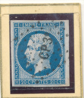 N°14 NUANCE ET OBLITERATION BELLE FRAPPE. - 1853-1860 Napoléon III.