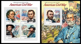 SIERRA LEONE 2015 - American Civil War, M/S + S/S. Official Issue. - History