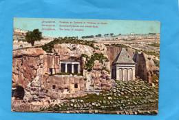 VJERUSALEM-Pyramide De Zacharia Et Tombeau  De Jacob-années1900-10-édition Terzis - Palestine