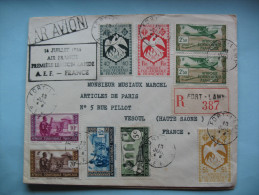 Lettre De Fort Lamy à Vesoul 13 Juillet 1946 - A.E.F. (1936-1958)