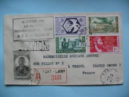 Lettre De Fort Lamy à Vesoul 13 Juillet 1946 Recommandé - A.E.F. (1936-1958)