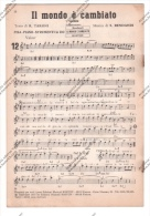 *SPARTITO - CON 12 SUCCESSI DI VALZER TANGO MAZURCA E POLKA - FISARMONICA PIANO STRUMENTI IN DO - - Spartiti