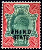 """BRITISH INDIA-JIND STATE-PRINTED AS """"JHIND""""-SMALL COLLECTION-MM-SCARCE-B8-56 - Jhind"""