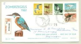 Nederland - 1961 - Vogelserie Op R-FDC Zonder Nummer - Periode 1949-1980 (Juliana)