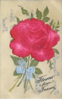 NOVELTY -   CELLULOID - FLOWERS APPLIQUE  Nov147 - Postcards