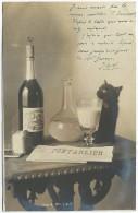Doubs PONTARLIER Carte Photographique CHAT BUVANT ABSINTHE BOURGEOIS N° 1 - Greece