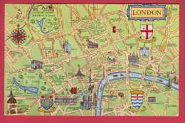 180000  / MAP - LONDON , ZOO GARDEN , ELEFANT , GIRAFFE , PINGOUIN Great Britain Grande-Bretagne - Maps