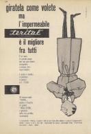 # TERITAL TESSUTO PER IMPERMEABILI 1950s Advert Pubblicità Publicitè Reklame Impermeables Raincoats Tissue Fabric - Accessori