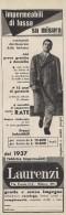 # LAURENZI MILANO IMPERMEABILI 1950s Advert Pubblicità Publicitè Reklame Impermeables Raincoats Tissue Fabric - Accessories