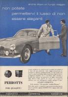 # TESSUTI PERROTTS MILANO 1950s Advert Pubblicità Publicitè Reklame Suits Vetements Vestidos Anzugen Clothing - Signore