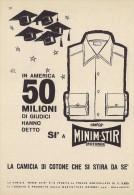 # CAMICIE MINIMSTIR ROTONDI GALLARATE 1950s Advert Pubblicità Publicitè Reklame Shirts Chemises Camisetas Hemden - He