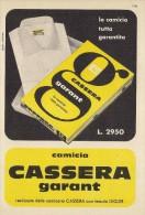 # CAMICIE CASSERA GARANT 1950s Advert Pubblicità Publicitè Reklame Shirts Chemises Camisetas Hemden - Signore