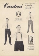 # CAMICIE CANTONI 1950s Advert Pubblicità Publicitè Reklame Shirts Chemises Camisetas Hemden - 1940-1970 ...