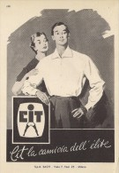 # CAMICIE CIT SpA SACIT MILANO 1950s Advert Pubblicità Publicitè Reklame Shirts Chemises Camisetas Hemden - Signore