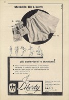 # MUTANDE CIT LIBERTY 1950s Advert Pubblicità Publicitè Reklame Underclothes Lingerie Ropa Intima Unterkleidung - He