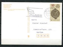"DDR 1986 Berlinkarte M. Mi.Nr.3023 Und MWST""1005 Berlin BPA-FDGB Kongress-Berlin,Hauptstadt Der DDR ""1 Beleg - [6] Democratic Republic"