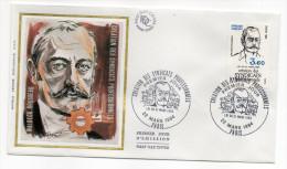 """1984--enveloppe 1er Jour-FDC""""Soie""""-W.Rousseau-Création Des Syndicats Professionnels---cachet  PARIS--75 - FDC"""