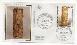 """1984--enveloppe 1er Jour-FDC""""Soie""""-CESAR--Compression Originale Des """"césars"""" Du Cinéma ---cachet  PARIS--75 - FDC"""