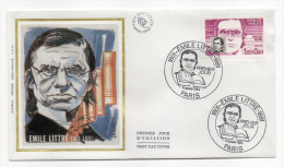 """1984--enveloppe 1er Jour-FDC""""Soie""""--Emile LITTRE ---cachet  PARIS--75 - FDC"""