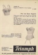 # TRIUMPH REGGISENI 1950s Advert Pubblicità Publicitè Reklame Underclothes Lingerie Ropa Intima Unterkleidung - Biancheria Intima