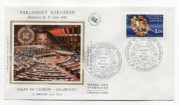 """1984--enveloppe 1er Jour-FDC""""Soie""""--Parlement Européen-Elections Du 17 Juin 1984--cachet STRASBOURG--67 - FDC"""