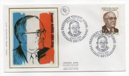 """1984--enveloppe 1er Jour-FDC""""Soie""""--Président Vincent AURIOL--cachet  REVEL--31 - FDC"""