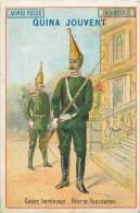 RUSSIE - Les Uniformes De L'Armée Russe - ** Garde Impériale - Régiment De PAULOWSKI ** - Carte Chromo Ancienne 7,5 X 11 - Russia