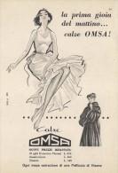 # CALZE OMSA 1950s Advert Pubblicità Publicitè Reklame Stockings Bas Medias Strumpfe - Tights & Stockings