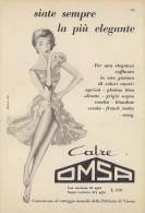 # CALZE OMSA 1950s Advert Pubblicità Publicitè Reklame Stockings Bas Medias Strumpfe - Calze