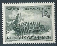 1954 AUSTRIA GIORNATA DEL FRANCOBOLLO MH * - A037 - 1945-.... 2ème République