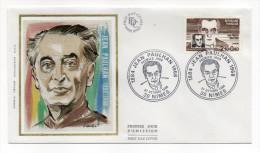 """1984--enveloppe 1er Jour-FDC""""Soie""""--Jean PAULHAN--cachet  NIMES--30 - FDC"""