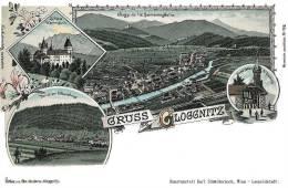 Gloggnitz 1899, Lithografie,Ostereich, Reproduction - Neunkirchen