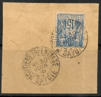 MOUTIERS TARENTAISE Savoie Sur Fraguement Au Type  SAGE. - 1876-1898 Sage (Type II)