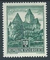 1957 AUSTRIA VEDUTE E MONUMENTI STORICI 10 S I TIPO MH * - A007 - 1945-.... 2ème République