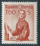 1958-59 AUSTRIA COSTUMI REGIONALI 1,60 S MNH ** - A024-4 - 1945-.... 2a Repubblica