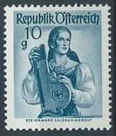 1958-59 AUSTRIA COSTUMI REGIONALI 10 G MNH ** - A020 - 1945-.... 2a Repubblica