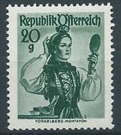 1958-59 AUSTRIA COSTUMI REGIONALI 20 G MNH ** - A024 - 1945-.... 2a Repubblica