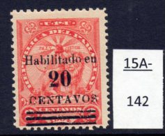 Paraguay 1908 20c/2c Vermilion ( Lion )  MH (1)  SG 176. - Paraguay