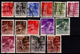 Indonesië 374-388 Gebruikt - Niederländisch-Indien