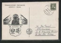 LITHUANIA POLONICA 1991 FRIENDS OF GRODNO & WILNO VILNIUS COMM COVER LTD ED OF 150 RARE MADONNA RELIGION LITHUANIA - Lithuania