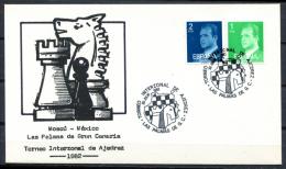 Spain 1982 España / Special Postmark Chess Matasellos Ajedrez Poststempel Schach / Jk03  C - Schaken