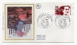 """1983--enveloppe 1er Jour-FDC""""Soie""""--Hommage à La Femme--Danielle Casanova--cachet  PARIS--75 - FDC"""