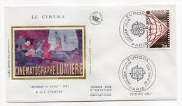 """1983--enveloppe 1er Jour-FDC""""Soie""""--EUROPA-Photographie-Cinématographe """"Lumière""""--cachet  PARIS--75 - FDC"""